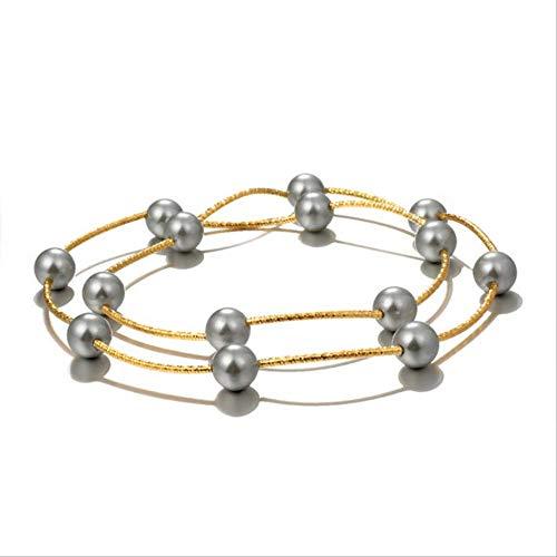 XIANGLIANDIAN Collar De Damas Moda Mujer Cadena, Collar, Collar con Colgante De Oro Joyas De Perlas De Las Mujeres Collar De Cacao Caliente Collar De Perlas Mujeres Xl1530
