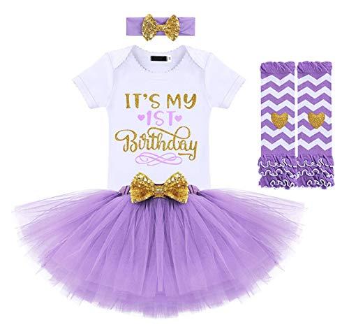 Kantenia Vestido de menina 3PC Primeiro Vestido de aniversário Gown Baptismo Infantil Vestido de algodão Com Bandana