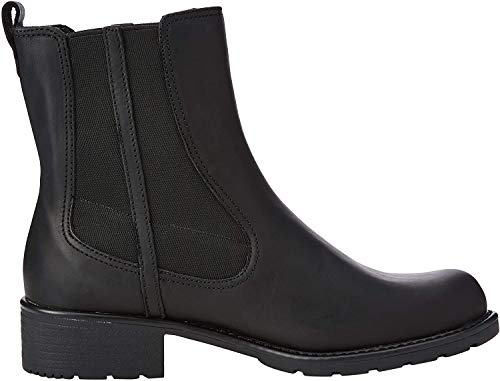 Clarks Damen Orinoco Club Kurzschaft Stiefel, Schwarz (Black Leather), 43 EU