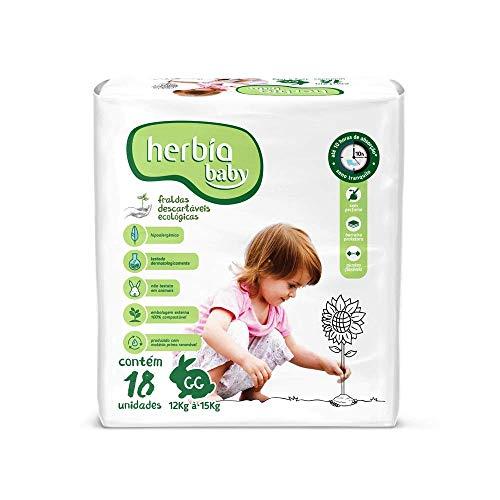 Fralda Descartável Ecológica Herbia Baby GG com 18 unidades - Herbia
