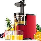 COSTWAY Exprimidor Lento Eléctrico con Función de Inversión Exprimidor para Frutas y Verduras 150W con Contenedor de Jugo