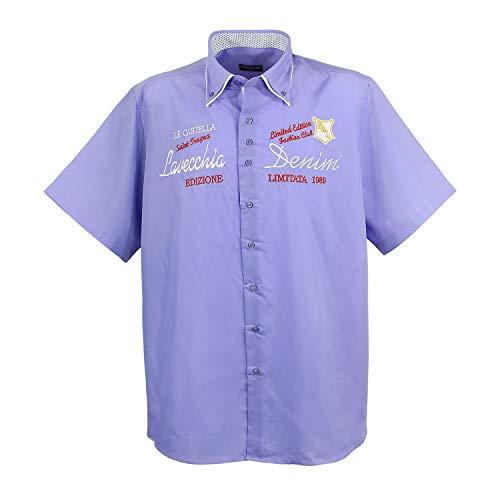 Modernes kurz Arm Hemd in Purple-Red Kollektion 2017 (6XL)