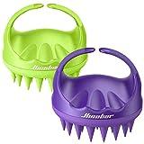 Scalp Massager, Scalp Scrubber, Hicober Scalp Massager Shampoo Brush Head Massager Scalp Stress Relax Scalp Exfoliator Hair Brush Head Scrubber 2 Packs Scalp Brush for Shower