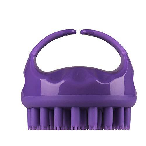 Yim Brosse de massage antistatique en silicone pour cheveux