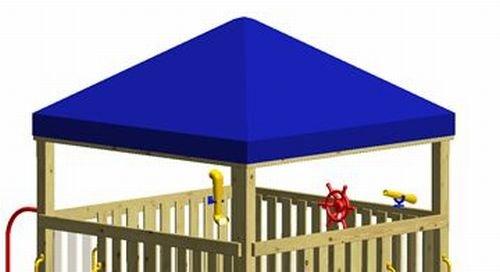 Winnetoo Ersatzdach Blaue Dachfolie für Gigaturm - 1739