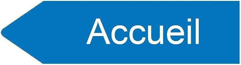 Decoho Bord pijl links personaliseerbaar - kleur blauw - schild binnen / buiten - kunststof - 8