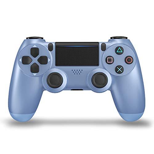 Controlador PS4 Controlador Inalámbrico para Playstation 4 / Pro/Slim/PC, Panel Táctil Gamepad con Doble Vibración Y Función De Audio,Titanium Blue