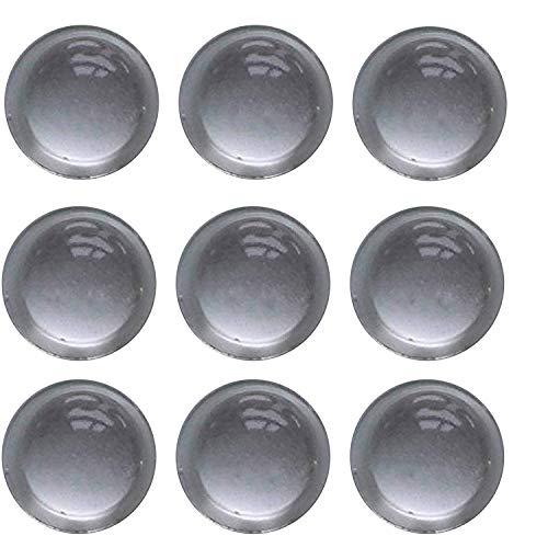 Tampon Élastique │ transparent │ 12 pièces │ Ø 16,0 mm, hauteur 7,9 mm │ auto-adhésif │ Tampon pour Meubles │ Tampon pour Portes │ by FD-Workstuff