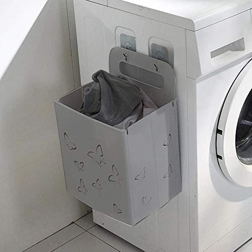 SYXX Plegable de pared sucia cesta de ropa, colgar la ropa cesta Caja de almacenamiento, Hogar baño sucio cesta de ropa, ropa de bebé Niño sucio caja de almacenaje, cesta de ropa de baño de juguete bo