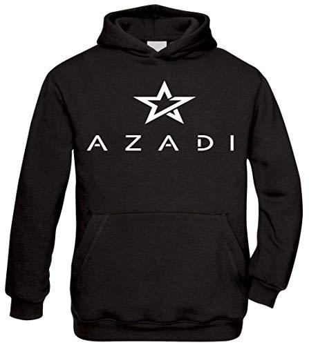 Ya Hero Ya Mero Azadi - Star Kurdistan Kapuzenpullover Pullover (Schwarz, S)