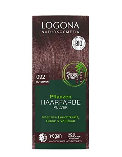Logona Haarkleuring 092 Roodbruin, 100 g
