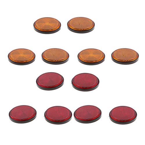 #N/a 6 Pares de Luces LED Rojas Y Naranjas para Motocicleta, Reflector, Freno