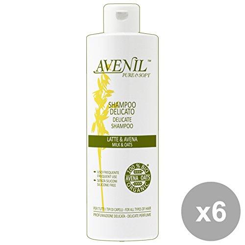Set 6 AVENIL Shampoo Hafermilch 400 ml Produkte Für Haare