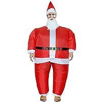Te Fiti サンタクロースインフレータブル服 クリスマス着ぐるみ ライダー おもしろ コス チューム コスプレ インフレータブル服 帽子付き (大人)