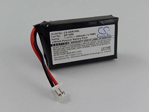vhbw Batterie Li-polymère 500mAh (7.4V) pour Hundehalsband Dogtra Edge Remote Dog Training Collar, Edge RX comme BP74RE.