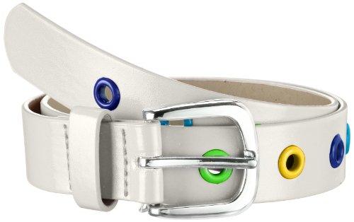 Playshoes PU-Gürtel mit Nieten Ceinture, Blanc (Weiß 1), FR: 75 (Taille fabricant: 75cm) Mixte