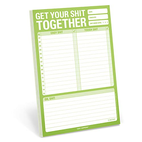 Knock Knock Get Your Shit Together Pad, To Do List Note Pad, 6 x 9-inches