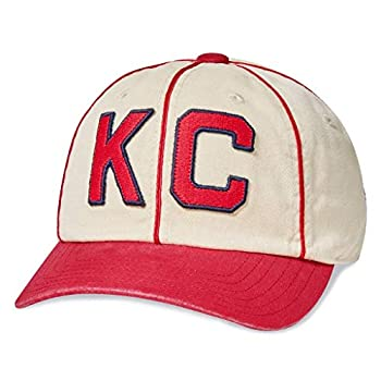 AMERICAN NEEDLE Archive Negro League Kansas City Monarchs Baseball Dad Hat Ivory/Dark Red
