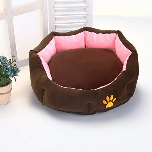 Kennel kattenbakvulling huisdier nest hondenbank verwijderbaar en wasbaar vier seizoenen universele ronde hondenmand Fluffy SofaCushion Nest Seasons Universa 70 * 60cm