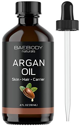 Baebody Baebody Argan Oil Moisturizer & Carrier Oil for Face, Skin, Hair & Nails, Large Value Size, 4 Ounces