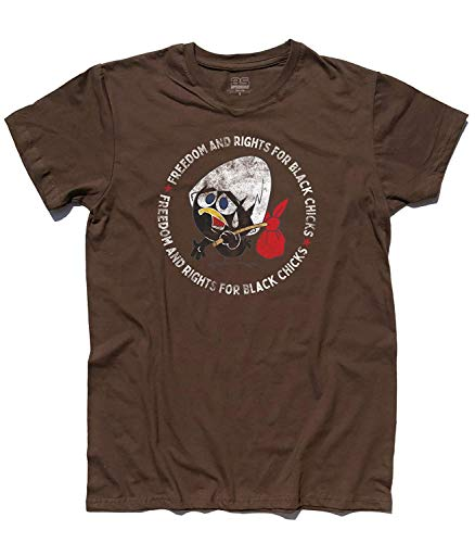 3stylershop T-Shirt Herren Calimero - Freedom and Rights für Schwarz Chicks - Schokolade, XL
