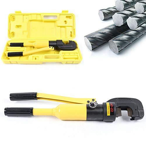 Alicates de crimpado hidráulico, portátil, ligero, hidráulico de refuerzo manual para cortes de refuerzo de 4-22 mm