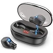 GYRS Bluetooth Kopfhörer, in Ear Sport Kopfhörer IPX7 Wasserdicht/ 2 Modi/BT 5.0 / Siri Bluetooth Headset mit Portable Mini Ladekästchen und Mikrofon für iPhone Huawei Samsung iPad usw.