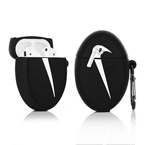 LKDEPO 3D Airpods Silicone Case Cover with Keychain Compatible for Airpods 1&2 (Stylish Designer Designed for Teens Boys and Girls)