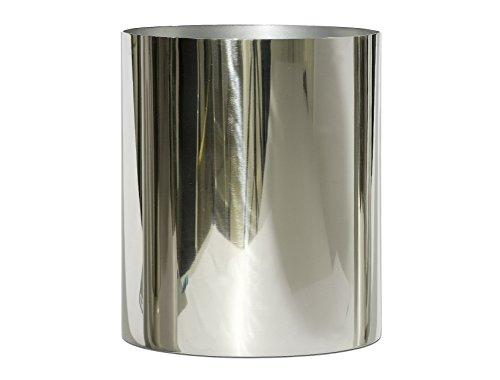 EDELSTAHL Vase, ZYLINDERVASE, Metall Übertopf, Blumenübertopf. Ca 13 x 15 cm.
