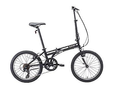 "ZiZZO EuroMini Ferro 20"" 29 lbs Light Weight Folding Bike (Black)"