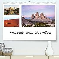 Momente zum Verweilen (Premium, hochwertiger DIN A2 Wandkalender 2022, Kunstdruck in Hochglanz): Reisefotos mit Spruechen und Zitaten. (Geburtstagskalender, 14 Seiten )