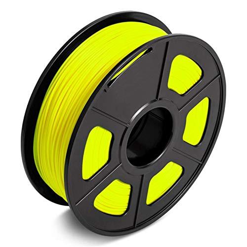 2.2LBS 3D PLA Filament, 1.75MM FDM 3D Printer and Printing Pen Material,Tolerance +/-0.02MM,1KG Eco-Friendly Vacumm Packing (Color : PLA YL 1KG)