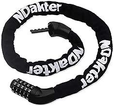 NDakter Bike Chain Lock, 5-Digit Combination Anti-Theft Bicycle Lock, 3.2 feet Long Security Resettable Bike Locks Heavy Duty for Bike, Motorcycle, Bicycle, Door, Gate, Fence, Grill