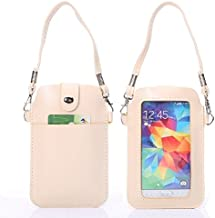 TONGZHENGTAI Compatible With IPhone 6 / 6S / Galaxy Or Below Smartphones Case, Universal Leather Cellphone Bag Pouch Shockproof Protective Cover, With Fullscreen Touch Simple style Back Shell