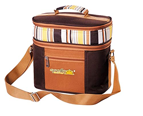 Jsmhh Vajilla portátil, Bolsa de refrigerador, Bolsa de Picnic de Campamento, Bolsa de Hielo Multifuncional, Mochila de Viaje de Hielo al Aire Libre (Color : Orange)