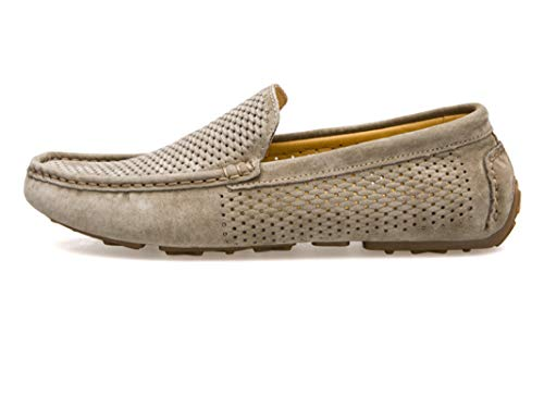 Mocasines de Hombre Zapatos de Cuero sin Cordones Mocasines de Ante Suaves y Transpirables de Verano Zapato náutico