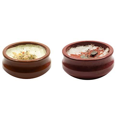 Food-United Ofen-Feta-Käse 2x 110g griechischer Feta im mini Bougourdi wiederverwendbarer Tontopf mit zwei verschiedenen Toppings zum Backen schnelle Zubereitung tolle Feta-Spezialität
