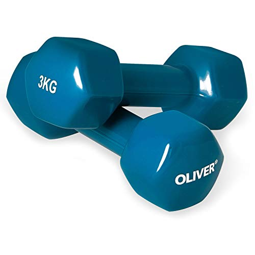 OLIVER Vinyl Hantel 2 x 3,0 kg Hantelset Kurzhanteln Fitness Aerobic Training