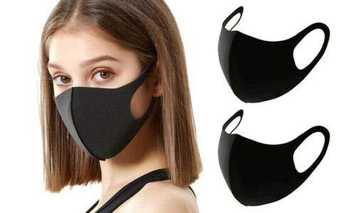 12-Pack - Single Layer Reusable and Washable Polyester Face Mask - Black