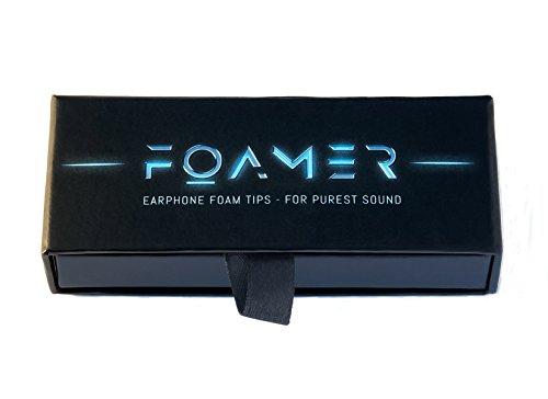 FOAMER F4.9 (M 6) • 6 Paar Noise Cancelling Schaum Ohrpolster für In Ear Kopfhörer • Ersatz für Silikon Ohrhörer Aufsatz • Extra Bass & Klarer Klang • InEar Ohrstöpsel, Memory Foam Earphone Tips