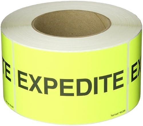 Tape Logic DL2381 Special Handling Label, Legend  Expedite , 5  longueur x 3  Width, Fluorescent jaune (Roll of 500) by Tape Logic