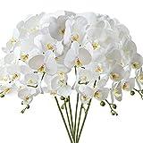 FagusHome 6 Piezas 80cm Flores Artificiales Orquídea Phalaenopsis Mariposa Artificiales Flores de Orquídea Flores de Phalaenopsis para Decoración (6 Piezas)
