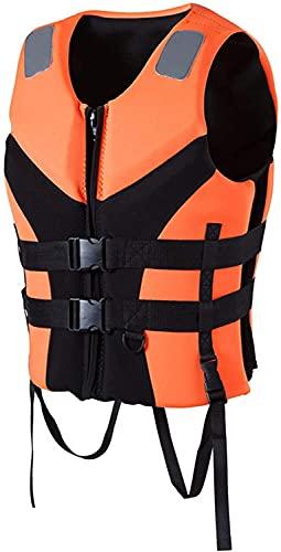 YZJL Chaquetas y Chalecos salvavidasChaleco Salvavidas para Adultos, Tabla de Wakeboard, natación, Botes de Rescate, Ropa anticolisión a la Deriva, Chaleco de Pesca de algodón de flotabilidad EPE