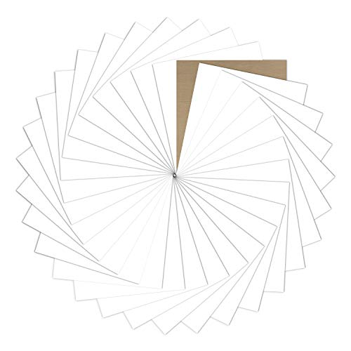 "White Heat Transfer Vinyl Bundle : 31 Pack 12"" x 10"" Sheets - White Iron on Vinyl for DIY Iron on Fabrics T-Shirts Heat Press Machine"