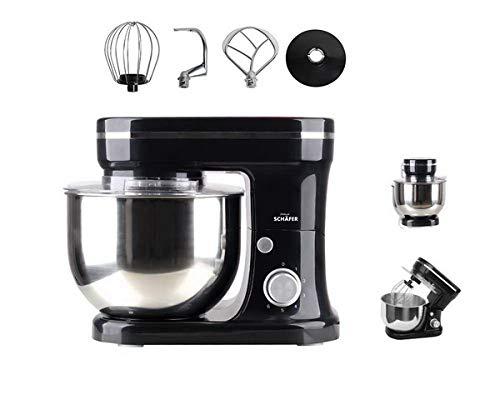 Schäfer 1200 Watt Küchenmaschine Knetmaschine Rührmaschine schwarz