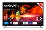 """Cello ZG0256 65"""" 4K Ultra HD Smart Android TV with Freeview Play, Google Assistant, Google Chromecast, 3 x HDMI and 2 x USB Made in the UK (2021 model)"""