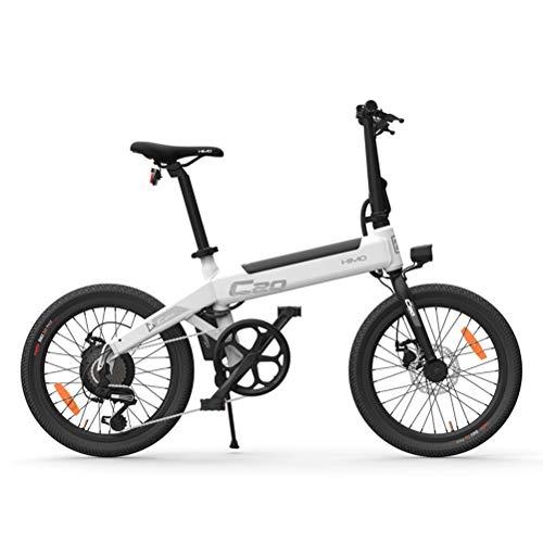 Fangteke Bicicletta elettrica, Bicicletta elettrica Pieghevole HIMO C20 per Adulti 250W Motore 36V Bicicletta elettrica da Città per pendolari Urbana velocità Massima 25 km/h capacità di carico 100kg