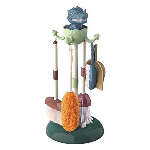 DUTUI Das Fünfteilige Simulationsspielzeugset Für Dinosaurier-Reinigungswerkzeuge Kann Das Zimmer Ihres Kindes Reinigen. Die Größe Wurde Speziell Für Kinder