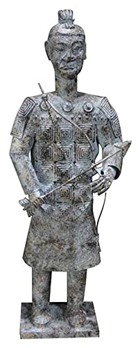 WQQLQX Statue Alte Soldat Statue China Qin Shihuang Terrakotta Krieger und Pferde Skulptur Kunst Modell Eisen Kunst Garten Home Dekorationen Figuren Skulpturen