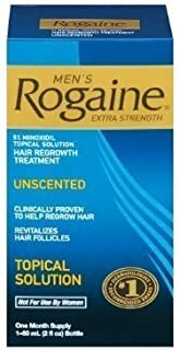 Men's Rogaine Extra Strength Hair Regrowth Treatment, Unscented 1 month